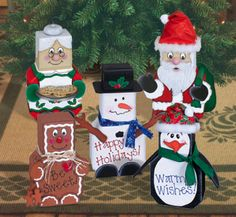 Christmas Patio Paver Pals Pattern