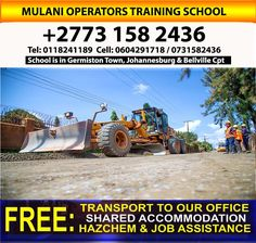 Grader, OHS, Bulldozer, Dump Truck school 0731582436 katlehong     We are OPEN!!!!!!! Our offices are open, under strict Level 3 Lockdown Safety Regulations- with limited services. As a precautionary measure, everyone will be screened on arrival plus we have made … Share Accommodation, Office Free, Training School, Dump Truck, Level 3, Offices, South Africa, Transportation, Monster Trucks