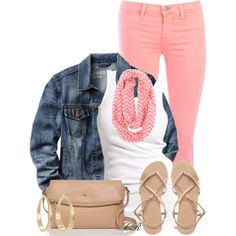 Chevron scarf в 2019 г. outfits i love:) chevron scarves, fa Polyvore Outfits, Look Fashion, Fashion Outfits, Womens Fashion, Rosa Jeans, Spring Summer Fashion, Spring Outfits, Pink Pants Outfit, Chevron Scarves