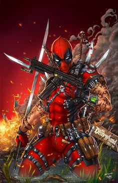 #Deadpool #Fan #Art. (DeadPool with the Ink) By: NoxDMartinez. ÅWESOMENESS!!!™ [THANK U 4 PINNING!!]