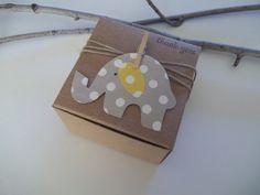 50 douche de bébé éléphant gris pois favor boîtes - 3 x 3 x 2 pouces - éléphant sur le thème bébé douche