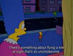 There's something about flying a kite at night that's so unwholesome.