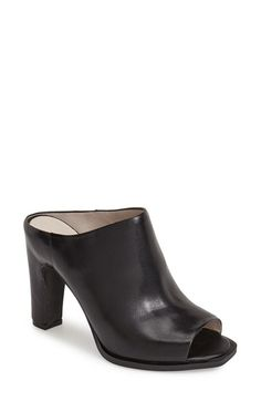 Kenneth Cole New York 'Beacon' Peep Toe Leather Mule (Women) available at #Nordstrom