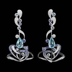 Boucles d'oreilles pendantes Splash - Lorenz Bäumer