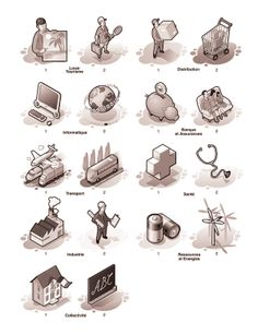 Icons Design (Pictogrammes) on Behance