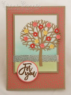 spring blossom tree card card using Stampin Up Thoughtful Branches bundle &… Stamping Up, Rubber Stamping, Creative Class, Blossom Trees, Spring Blossom, Class Projects, Flower Cards, Homemade Cards, Stampin Up Cards
