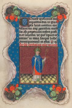 St. Nicholas | Hours of Catherine of Cleves | Illuminated Manuscript | ca. 1440 | The Morgan Library & Museum