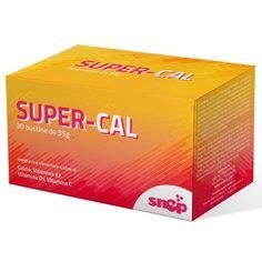 SUPER - CAL  Super-Cal è un integratore di Calcio e di Vitamine C, K2 e D3. I componenti presenti in Super-Cal possono favorire il mantenimento di ossa normali (Calcio, Vitamina D e Vitamina K), favorire il normale assorbimento di Calcio e Fosforo (Vitamina D) e contribuire alla normale formazione del collagene per la normale funzione delle ossa (Vitamina C).