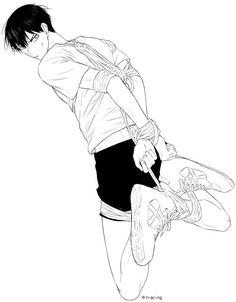 "babyshouyou: "" ※ Posted with permission from the artist. Haikyuu Yaoi, Kageyama Tobio, Anime Boy Sketch, Ahegao, Cartoon As Anime, Dark Anime Guys, Rope Art, Drawing Reference Poses, Gay Art"