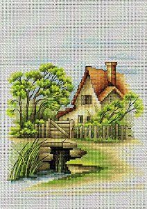 Summer landscape - cross stitch