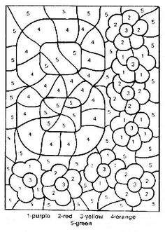 Color By Number Coloring Pages Print