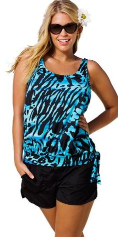 Beach Belle Blue Bell Plus Size Blouson Cargo Shortini Women's Swimsuit - Blue - Size:22 Beach Belle http://www.amazon.com/dp/B00CAX3HX2/ref=cm_sw_r_pi_dp_bP3Rub122NN84