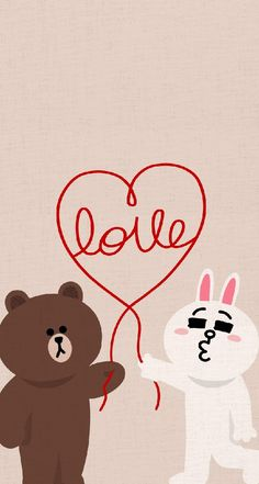 BROWN PIC is where you can find all the character GIFs, pics and free wallpapers of LINE friends. Come and meet Brown, Cony, Choco, Sally and other friends! Lines Wallpaper, Images Wallpaper, Bear Wallpaper, Pattern Wallpaper, Line Cony, Bunny Drawing, Chibi Cat, Cute Love Gif, Bunny And Bear