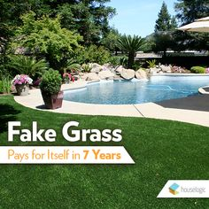 While artificial grass has a big upfront cost, you'll invest less money and effort in the long run.