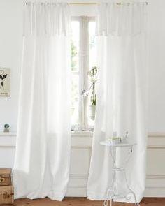 Polyestervorhang weiß