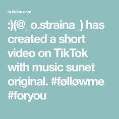 :)(@_o.straina_) has created a short video on TikTok with music sunet original. #følløwme #foryou The Originals, Music, Musica, Musik, Muziek, Music Activities, Songs