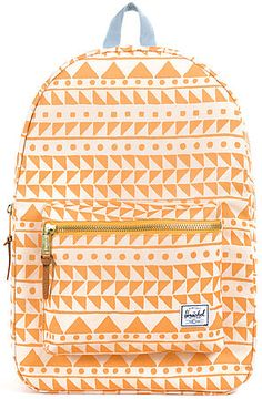 c3a5072182e Herschel Supply Backpack Settlement in Chevron Butterscotch   Steel Blue