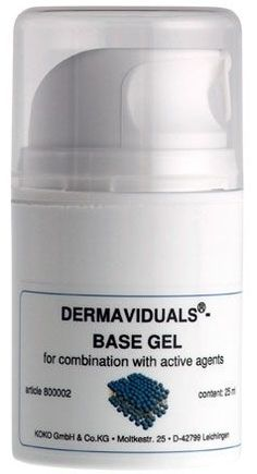 Base Gel For intensive care, the dermaviduals Base Gel is free of emulsifiers, has excellent lubricating properties and contains moisturising agents. The gel can be applied on the face, body and extremely sensitive skin, and is the base for skincare products with lifting, hydrating, cooling and soothing properties.The gel can also be combined with active agent concentrates and or DMS Base cream. A perfect partner for post Laser and IPL treatments. #Skin Correction #dermaviduals