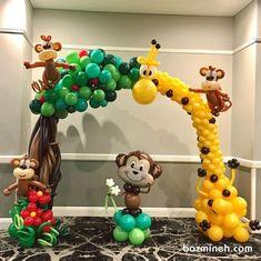 Safari Birthday Cakes, Jungle Theme Birthday, Jungle Theme Parties, Safari Theme Party, First Birthday Party Themes, Safari Birthday Party, Jungle Theme Decorations, Balloon Decorations, Safari Thema