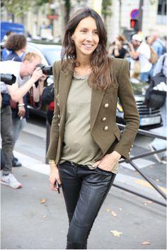 Géraldine Saglio ... ParisFW S/S 2014 the new look to pregnancy   classic style