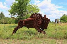 Sculpture by Frank Jensen HWY 400 east of Augusta Photo by Chris Harris