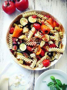 love affair on a plate: Makaron z pieczonymi warzywami