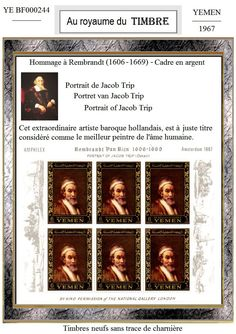 Tableaux Rembrandt van Rijn peintre baroque - Document philatélique : Art numérique par au-royaume-du-timbre