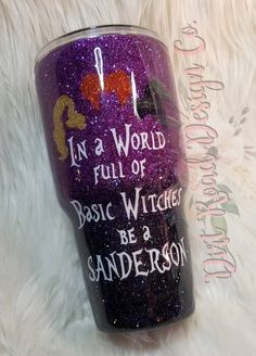 Custom Halloween glitter tumbler *>*>*>Choose any glitter combo and/or decal youd like Diy Tumblers, Custom Tumblers, Glitter Tumblers, Halloween Cups, Purple Halloween, Halloween Movies, Tumblr Cup, Glitter Cups, Loose Glitter