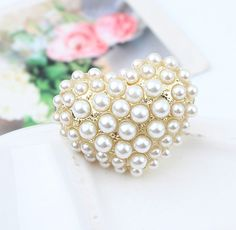 Pearl Heart Statement Ring from LilyFair Jewelry, $9.99