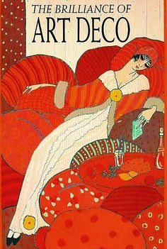 the brilliance of Art Deco by Julian Robertson. A very good book on art deco graphic design and fashion. The cover image is by Georges Lepape Art Nouveau Pintura, Arte Art Deco, Art Deco Era, 1920s Art Deco, Art Deco Illustration, Art Deco Posters, Poster Prints, Pinturas Art Deco, Bijoux Art Deco