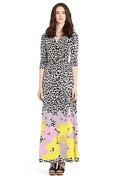 Pop Wrap Limited Edition Abigail Silk Jersey Wrap Dress In Floral Border Lilac Long Skirt Looks, Iconic Dresses, Expensive Clothes, Modest Dresses, Wrap Dresses, Beautiful Gowns, Playing Dress Up, Diane Von Furstenberg, Dresses For Sale