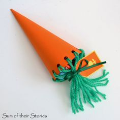 How to make a carrot shaped gift bag for treats