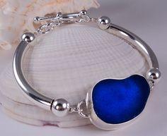Vivid Violet Blue Sea Glass Bracelet - Call Me Gorgeous! ©2012