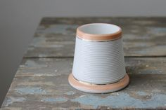 Antique Match Striker / Ribbed Conical Pyrogene by tippleandsnack