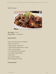 Beef Roast ingredients