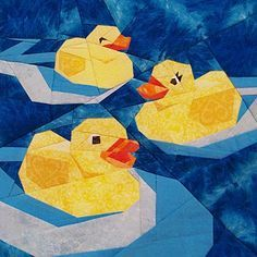 Rubber Ducks Paper Pieced Pattern at paperpanache.com