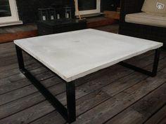 Terassipöytä betonista, 100x100x30