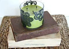 Up-cycled candle by crafty scrappy happy