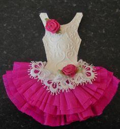 Handmade crepe paper dress