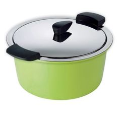 Kuhn Rikon Hotpan Stainless Steel (Silver) Quart Cook & Serveware Braiser with Green Serving Shell Induction Stove, Induction Cookware, Wellness Mama, Cookware Set, Kitchen Tools, Kitchen Things, Kitchen Supplies, Serveware
