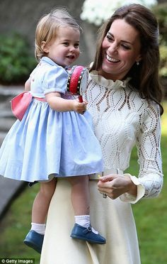 The Duchess of Cambridge with Princess Charlotte...