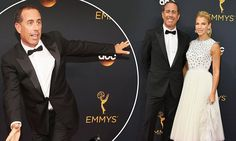 Jerry Seinfeld beams beside his dazzling-in-Dior wife Jessica