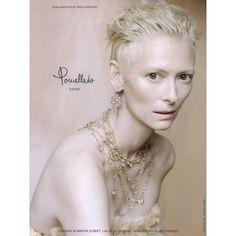 Pomellato Ad Campaign 2010-2011 - MyFDB ❤ liked on Polyvore featuring ad campaign and tilda swinton