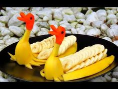 Art In Fruit Hedgehog | Fruit Carving Garnish | Party Garnishing | Food Decoration - YouTube