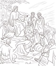 jesus teaching people coloring page