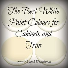 The Best White Paint Colours for Cabinets / Trim