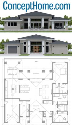 arquitectonico House Plan House Plan, Home Plan, Floor Plan, Architecture, House Layout Plans, Family House Plans, Dream House Plans, Small House Plans, House Layouts, House Floor Plans, Bungalow Floor Plans, Sims 4 Houses Layout, Modern Bungalow House Plans