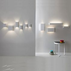 Wall lighting Ideas - Parma 250 White Plaster LED Uplight using 3 x LED Spray Paintable.
