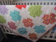 Fat Cross Baby Quilt Pattern Tutorial, pdf