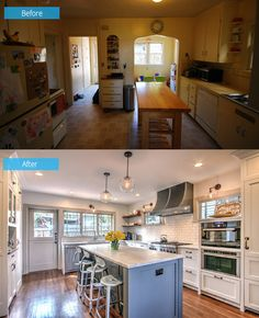 Before and After: Seattle Kitchen Renovation with Added Lighting and Storage   Home Design Lover